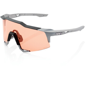 100% Speedcraft Lunettes Grand, soft tact stone grey/HD multilayer/hiper